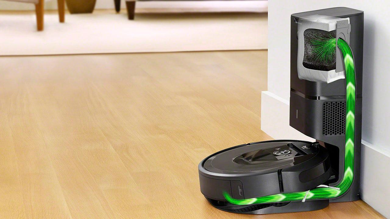 Технологии iRobot Roomba i7+ (Clean Base)